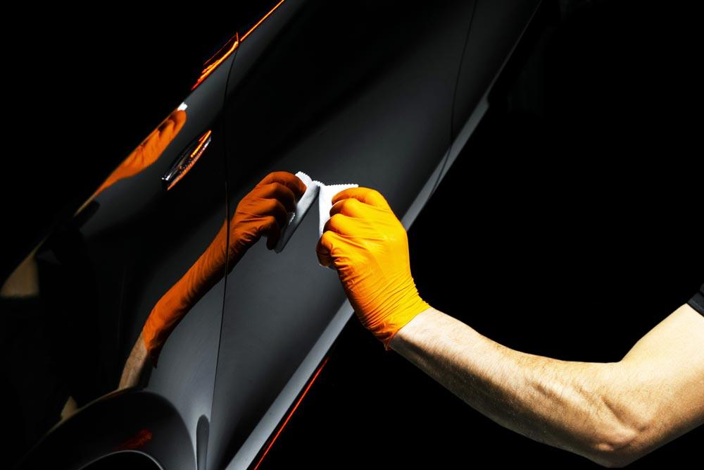 Clay bar paint treatment